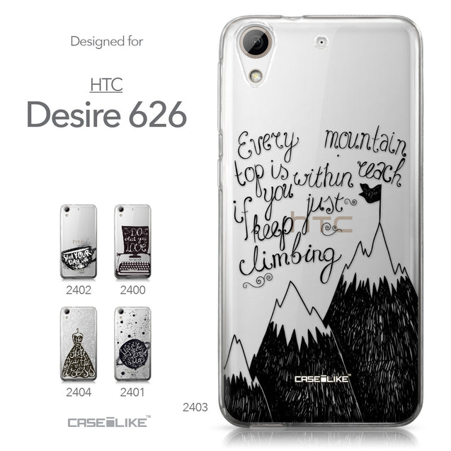 HTC Desire 626 case Quote 2403 Collection | CASEiLIKE.com