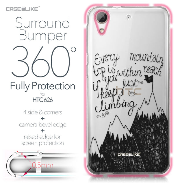 HTC Desire 626 case Quote 2403 Bumper Case Protection | CASEiLIKE.com