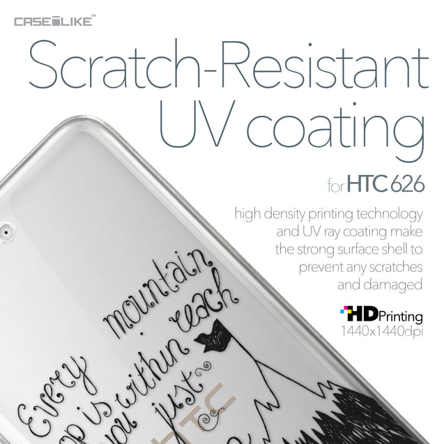 HTC Desire 626 case Quote 2403 with UV-Coating Scratch-Resistant Case | CASEiLIKE.com
