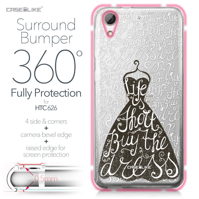 HTC Desire 626 case Quote 2404 Bumper Case Protection | CASEiLIKE.com