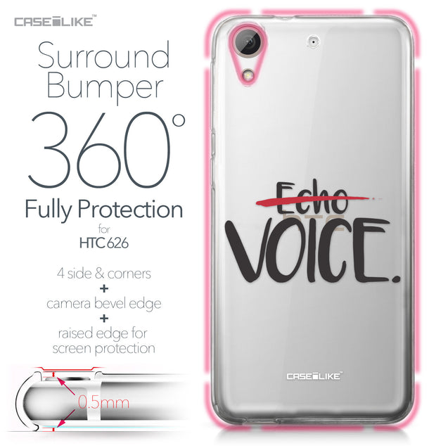 HTC Desire 626 case Quote 2405 Bumper Case Protection | CASEiLIKE.com