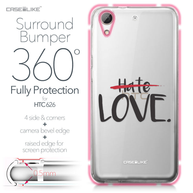 HTC Desire 626 case Quote 2406 Bumper Case Protection | CASEiLIKE.com