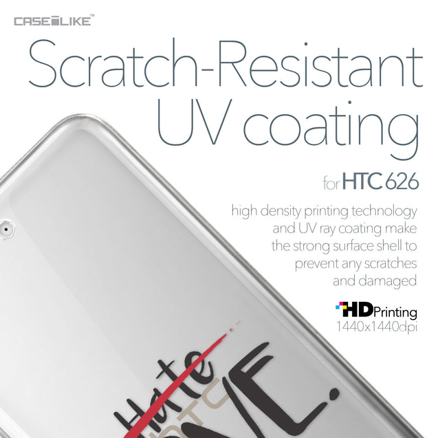 HTC Desire 626 case Quote 2406 with UV-Coating Scratch-Resistant Case | CASEiLIKE.com