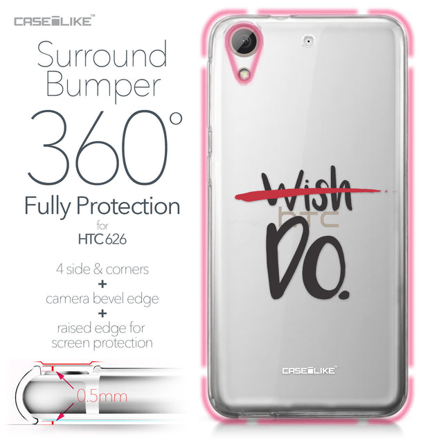 HTC Desire 626 case Quote 2407 Bumper Case Protection | CASEiLIKE.com