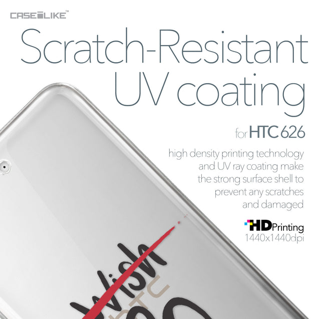 HTC Desire 626 case Quote 2407 with UV-Coating Scratch-Resistant Case | CASEiLIKE.com