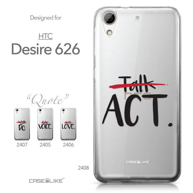 HTC Desire 626 case Quote 2408 Collection | CASEiLIKE.com