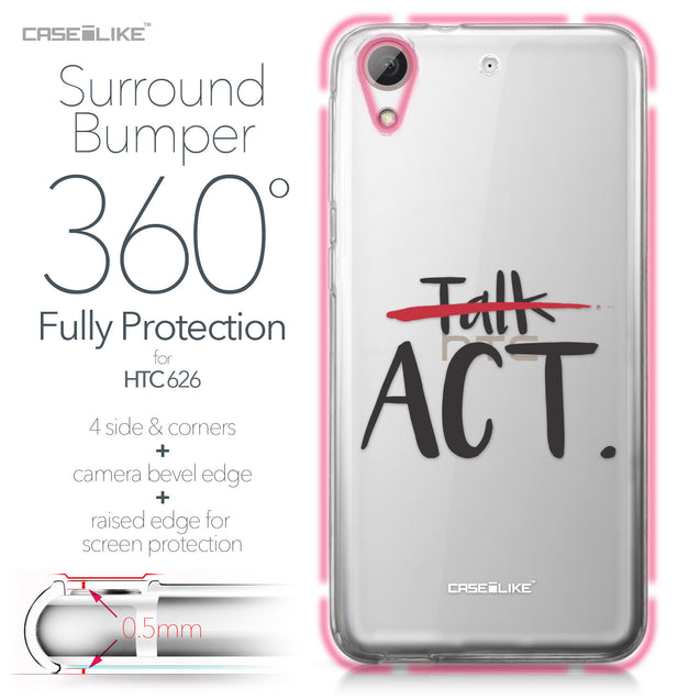 HTC Desire 626 case Quote 2408 Bumper Case Protection | CASEiLIKE.com