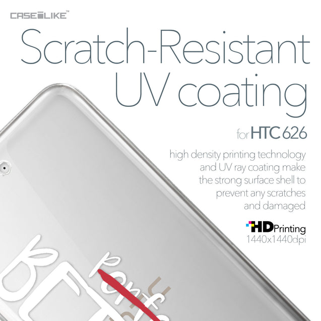 HTC Desire 626 case Quote 2410 with UV-Coating Scratch-Resistant Case | CASEiLIKE.com