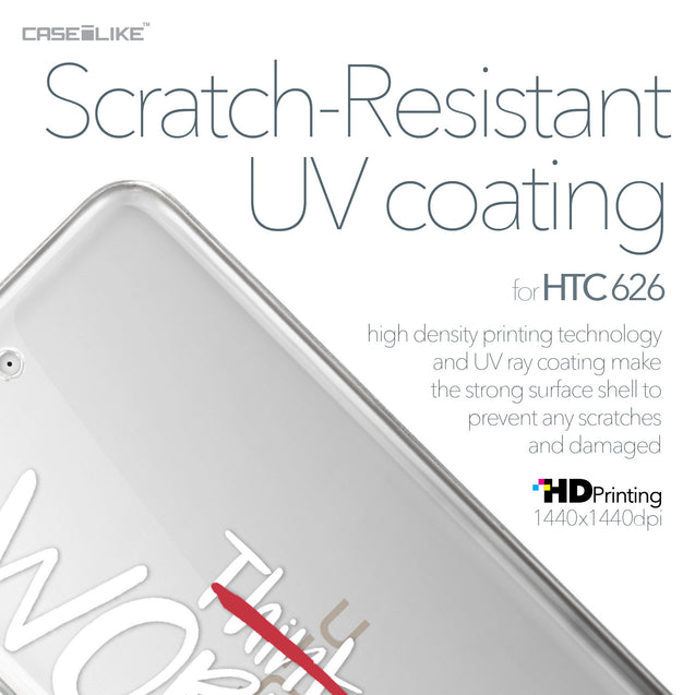 HTC Desire 626 case Quote 2411 with UV-Coating Scratch-Resistant Case | CASEiLIKE.com