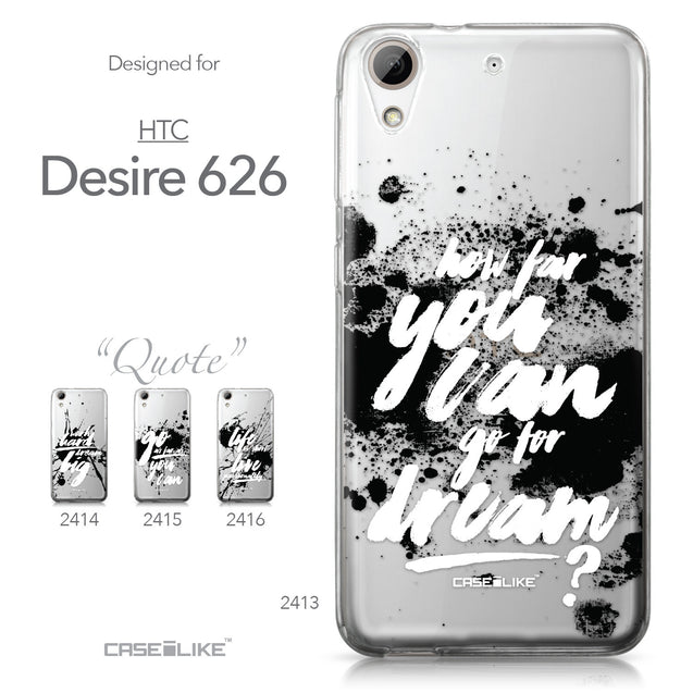 HTC Desire 626 case Quote 2413 Collection | CASEiLIKE.com