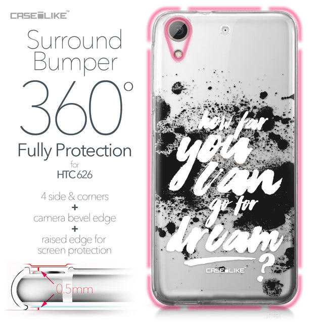 HTC Desire 626 case Quote 2413 Bumper Case Protection | CASEiLIKE.com