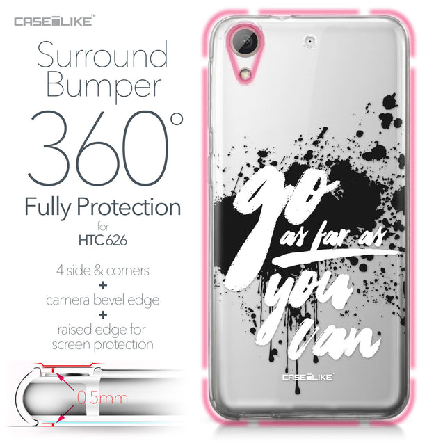 HTC Desire 626 case Quote 2415 Bumper Case Protection | CASEiLIKE.com