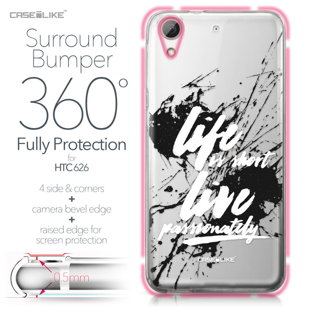 HTC Desire 626 case Quote 2416 Bumper Case Protection | CASEiLIKE.com