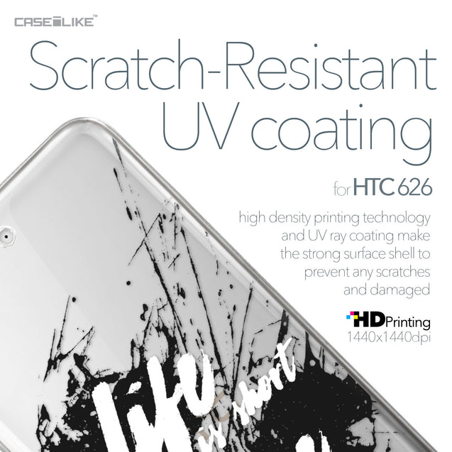 HTC Desire 626 case Quote 2416 with UV-Coating Scratch-Resistant Case | CASEiLIKE.com