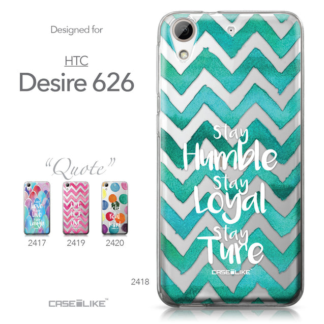 HTC Desire 626 case Quote 2418 Collection | CASEiLIKE.com