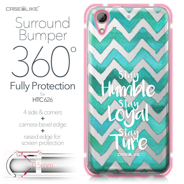 HTC Desire 626 case Quote 2418 Bumper Case Protection | CASEiLIKE.com