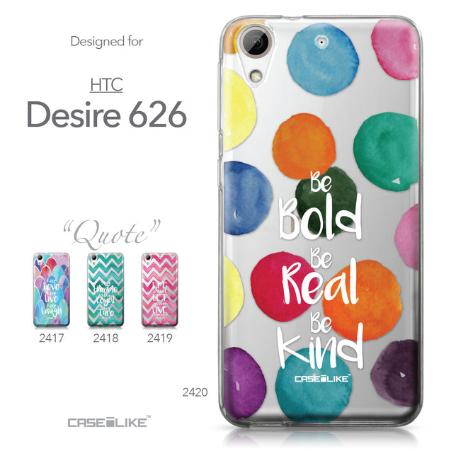 HTC Desire 626 case Quote 2420 Collection | CASEiLIKE.com