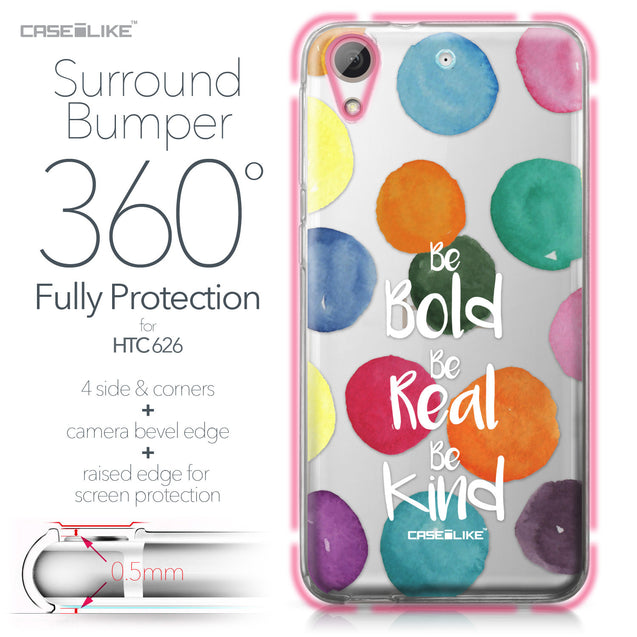 HTC Desire 626 case Quote 2420 Bumper Case Protection | CASEiLIKE.com