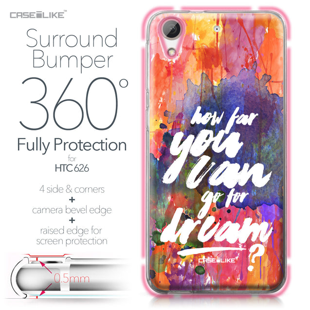 HTC Desire 626 case Quote 2421 Bumper Case Protection | CASEiLIKE.com