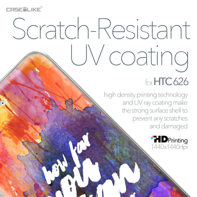 HTC Desire 626 case Quote 2421 with UV-Coating Scratch-Resistant Case | CASEiLIKE.com