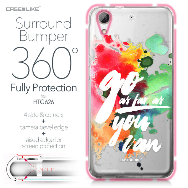 HTC Desire 626 case Quote 2424 Bumper Case Protection | CASEiLIKE.com