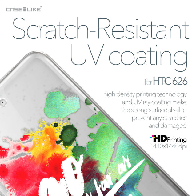 HTC Desire 626 case Quote 2424 with UV-Coating Scratch-Resistant Case | CASEiLIKE.com