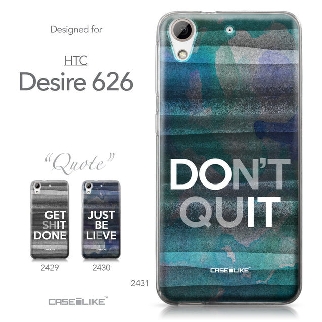 HTC Desire 626 case Quote 2431 Collection | CASEiLIKE.com