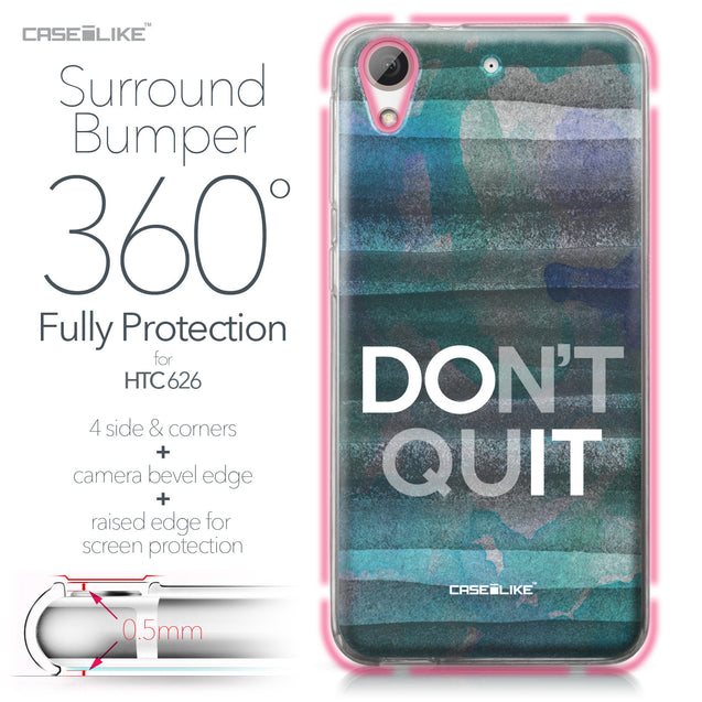 HTC Desire 626 case Quote 2431 Bumper Case Protection | CASEiLIKE.com