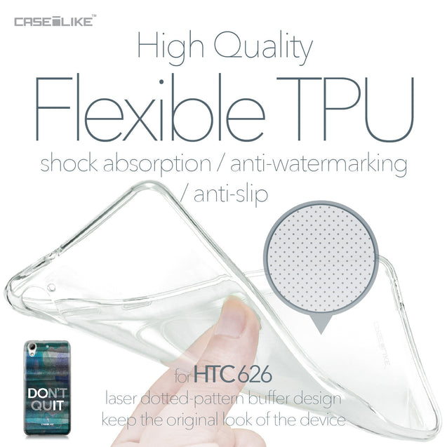 HTC Desire 626 case Quote 2431 Soft Gel Silicone Case | CASEiLIKE.com