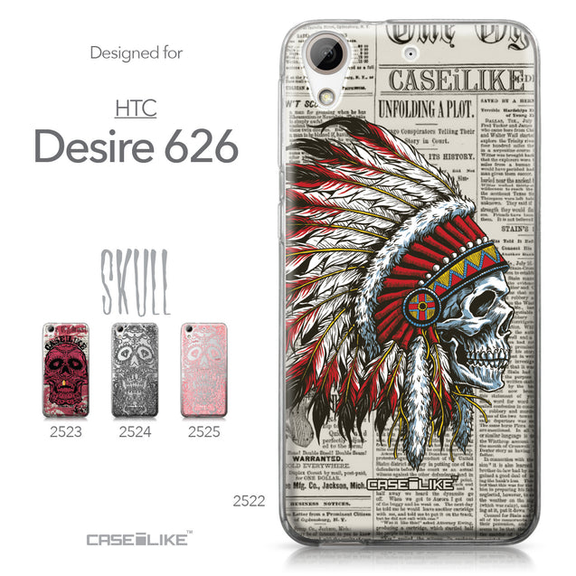 HTC Desire 626 case Art of Skull 2522 Collection | CASEiLIKE.com