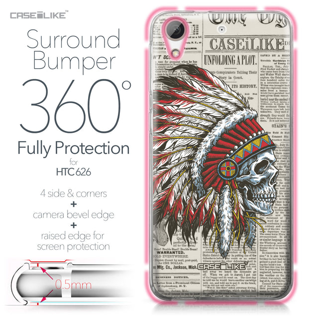 HTC Desire 626 case Art of Skull 2522 Bumper Case Protection | CASEiLIKE.com