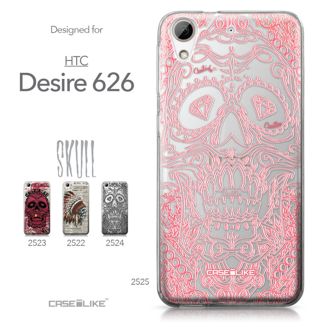 HTC Desire 626 case Art of Skull 2525 Collection | CASEiLIKE.com