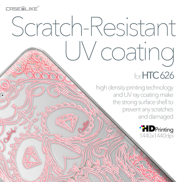 HTC Desire 626 case Art of Skull 2525 with UV-Coating Scratch-Resistant Case | CASEiLIKE.com