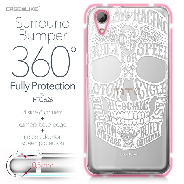 HTC Desire 626 case Art of Skull 2530 Bumper Case Protection | CASEiLIKE.com