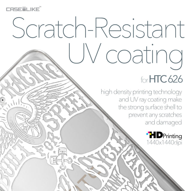 HTC Desire 626 case Art of Skull 2530 with UV-Coating Scratch-Resistant Case | CASEiLIKE.com