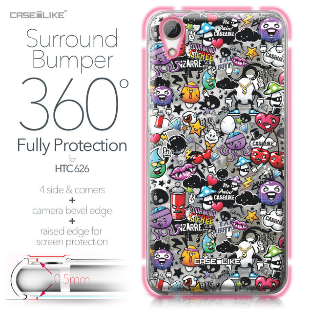 HTC Desire 626 case Graffiti 2703 Bumper Case Protection | CASEiLIKE.com
