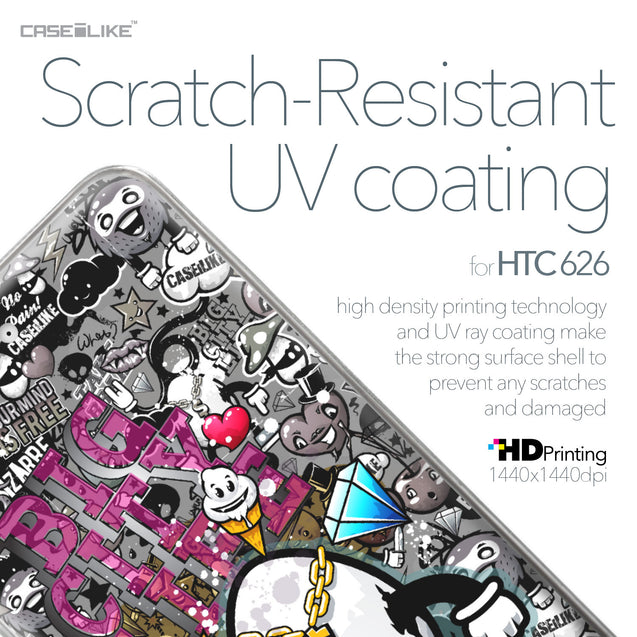 HTC Desire 626 case Graffiti 2704 with UV-Coating Scratch-Resistant Case | CASEiLIKE.com