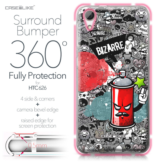 HTC Desire 626 case Graffiti 2705 Bumper Case Protection | CASEiLIKE.com