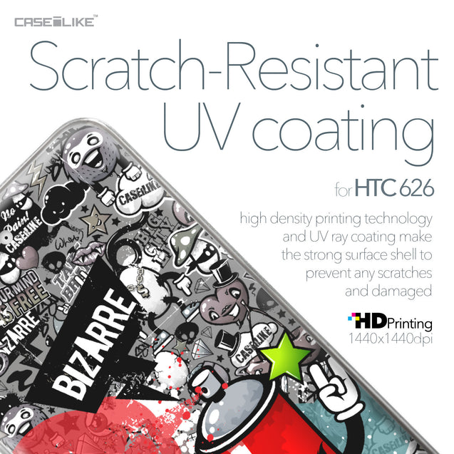 HTC Desire 626 case Graffiti 2705 with UV-Coating Scratch-Resistant Case | CASEiLIKE.com