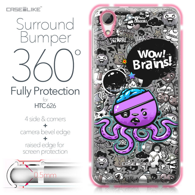 HTC Desire 626 case Graffiti 2707 Bumper Case Protection | CASEiLIKE.com