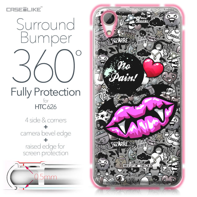 HTC Desire 626 case Graffiti 2708 Bumper Case Protection | CASEiLIKE.com