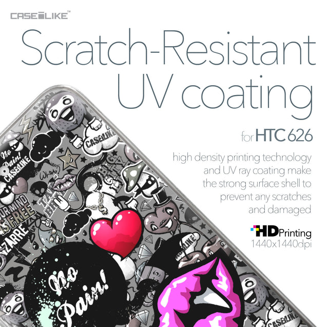 HTC Desire 626 case Graffiti 2708 with UV-Coating Scratch-Resistant Case | CASEiLIKE.com
