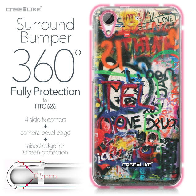 HTC Desire 626 case Graffiti 2721 Bumper Case Protection | CASEiLIKE.com