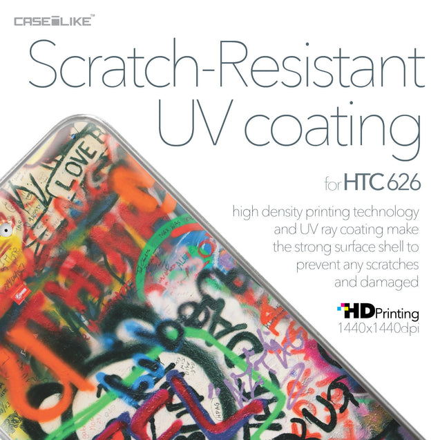 HTC Desire 626 case Graffiti 2721 with UV-Coating Scratch-Resistant Case | CASEiLIKE.com