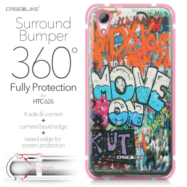HTC Desire 626 case Graffiti 2722 Bumper Case Protection | CASEiLIKE.com