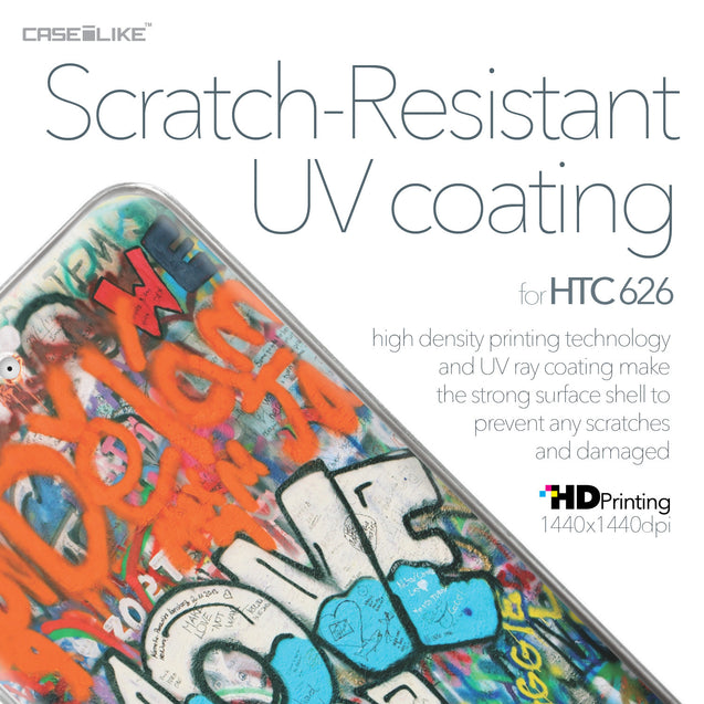 HTC Desire 626 case Graffiti 2722 with UV-Coating Scratch-Resistant Case | CASEiLIKE.com