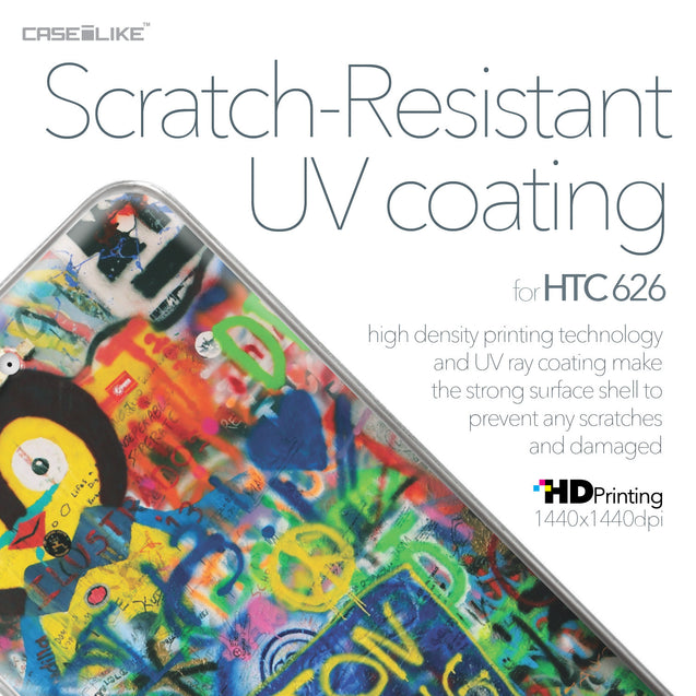 HTC Desire 626 case Graffiti 2723 with UV-Coating Scratch-Resistant Case | CASEiLIKE.com