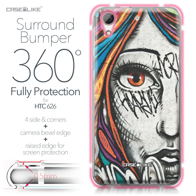 HTC Desire 626 case Graffiti Girl 2724 Bumper Case Protection | CASEiLIKE.com