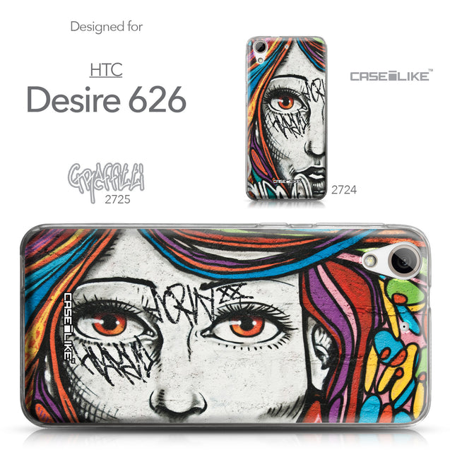 HTC Desire 626 case Graffiti Girl 2725 Collection | CASEiLIKE.com