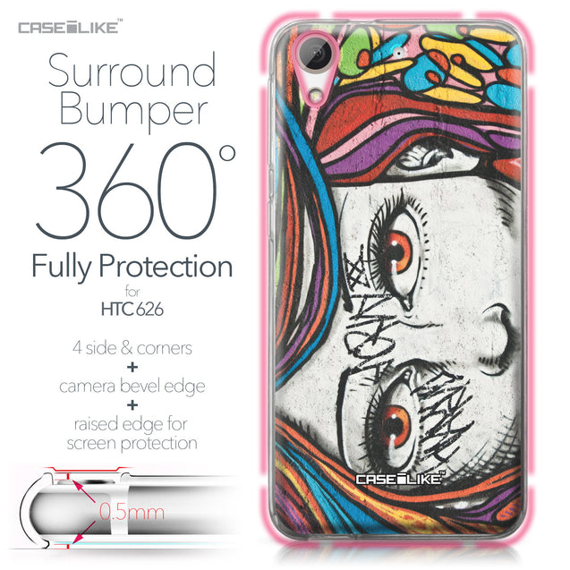 HTC Desire 626 case Graffiti Girl 2725 Bumper Case Protection | CASEiLIKE.com